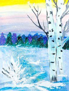 Чунтонова В. Зимний пейзаж