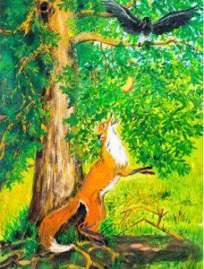 Изилаева О. Ворона и лисица