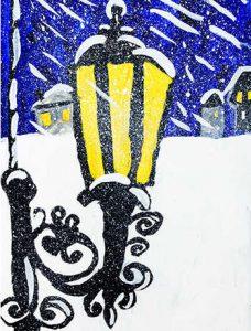 Полюшкина А. Пейзаж с фонарем